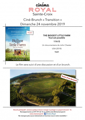 The Biggest Little Farm (VOst) (ciné-brunch Transition)